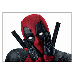 Deadpool. Размер: 35 х 25 см